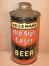 HEILEMAN'S OLD STYLE CONE TOP BEER CAN