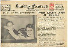Edward V111 Abdicate 13 December 1936 Edward Lands at Boulogne King George V1