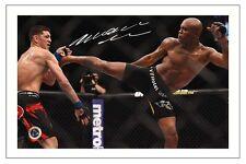 ANDERSON SILVA UFC MMA SIGNED PHOTO PRINT AUTOGRAPH
