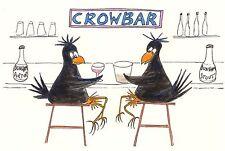 "Card: ""Crow At The CrowBar"" #PeterBrighouseIllustrator #corvid"