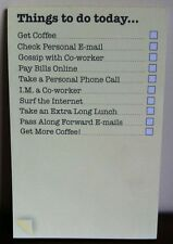 Office Humour Notepad - Notebook- Things to do Today Magnetic List