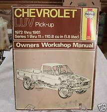 Chevrolet Luv Truck 1972 To 1981 Haynes Manual 319