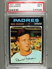 1971 Topps #548 DON MASON PSA NM 7 Padres