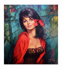 LOUIS SHABNER MELANIE VINTAGE RETRO TRETCHIKOFF LYNCH ERA GICLEE CANVAS REPRO