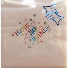 Luxury Happy 30th Birthday Napkins 30th Party Tableware Decorations & Buy 21st Birthday Party Tableware | eBay