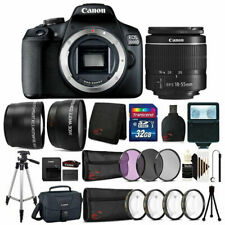 Canon EOS 2000D 24.1MP DSLR Camera + 18-55mm Lens + 32GB Accessory Bundle