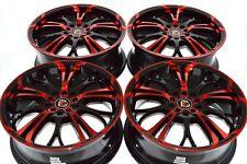 17 red Wheels Rims Camry Avenger PT Cruiser Neon Integra Galant TC 5x100 5x114.3