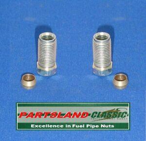 "Petrol Pipe Nut Carburettor Fuel Pump Tank ½"" UNF x 20tpi ¼"" Pipe + Olive x 2"