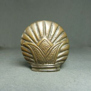 Antique French Bronze Drawer Pull Furniture Decoration, Shell & Crown