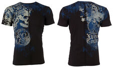 Xtreme Couture AFFLICTION Mens T-Shirt PLASTERED Skull Tattoo Biker MMA $40