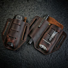 More details for multifunction edc leather sheath waist holster belts loop organizer pouch bags✅