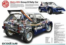 A3 Metro 6R4 Group B Rally Car CutAway Wall Poster Art Picture Print