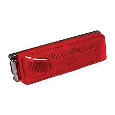 American Motorhome RV Blazer C12531r red led marker light with Chrome mounting