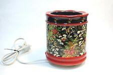 Red Black Floral Ceramic Electric Candle Warmer Holder