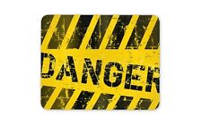 Danger Warning Industrial Mouse Mat Pad - Hazard Tracks Computer Gift #14611