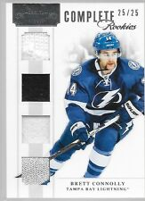 11/12 Dominion Complete Rookie Jersey Patch Strap Brett Connolly /25 Lightning