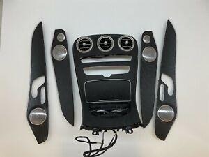 Mercedes benz W253 W205 C GLC Central Console Wood Surroounding Trim Set Door