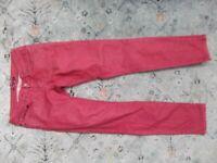 prAna Women's Kara Jean Pants Red Sunwashed Red Sz 2/26 Skinny Jeans