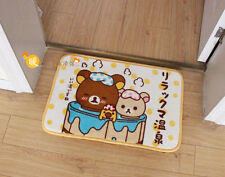 Cute Soft San-X Rilakkuma Relax Bear Plush Door Floor Mat Rug Skidproof