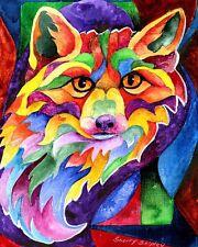 Rainbow Fox 8X10 Print from Artist Sherry Shipley