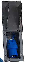 240v Grey Mains Hook Up Inlet Socket Caravan Motorhome Campervan Flush Fitting