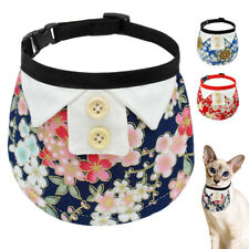 Fancy Floral Pet Dog Bandana Collars Soft Fabric Neckerchief for Small Puppy Cat