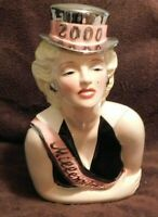 Vintage Hand Painted Marilyn Monroe Millennium Cookie Jar 1999 New in Box Signed