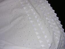 #B J.C. Penney Usa White Eyelet Full Dust Ruffle Bed Skirt -Cotton Blend