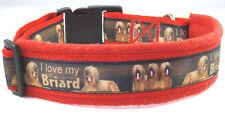 "Hundehalsband ""I love my Briard"", L 50-55 cm Halsumfang"