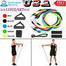 Resistance Bands Exercise Band Workout Set Fitness Yoga Loop Pilates Tube 11pcs