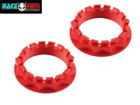 Ducati 1199 1299 panagale billet rear wheel nut set red