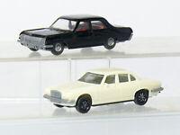 Wiking  112 Opel Admiral  schwarz  + Herpa  Jaguar XJ 12/6   H0 1/87