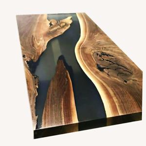 Epoxy Resin Dining, Sofa, Center Table Top Live Edge Wood table ,Custom Order