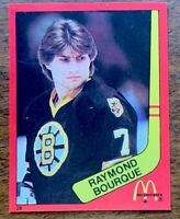 1982-83 McDonald's Quebec Only #28 Ray Bourque Boston Bruins - Mint.