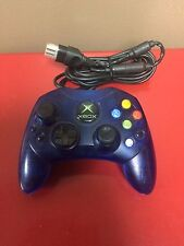 ~* Official Microsoft Original Xbox S-type Blue Translucent Controller - TESTED