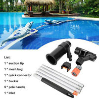 Swimming Pool Pond Cleaner Hot Tub Cleaning Tool Brush Vacuum Hose Kit Portable