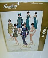 Simplicity 1960's Fashion Paper Doll Book