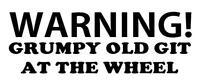 WARNING GRUMPY OLD GIT Funny Caravan Swift Bailey Novelty Vinyl Decal Sticker
