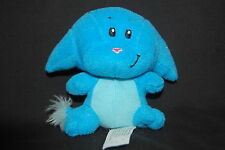 """Neopets KaCheek Blue Pink Nose Embroidered Eyes Plush McDonald's Toy 3.5"""" Lovey"""