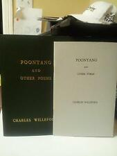 Poontang and Other Poems ~ CHARLES WILLEFORD ~ 1st Ed~ 1/500 1967 Custom Cover