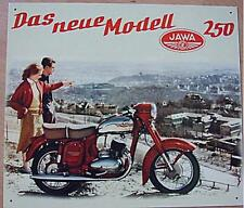 Älteres Reklameschild  Moped Jawa 250 CZ Blechschild Werbung gebraucht used