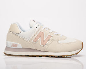 New Balance 574 Women's Sea Salt Rose Water Low Casual Lifestyle Sneakers Shoes