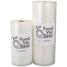 FoodVacBags Roll of 4 mil Vacuum Sealer Bags, 8″ L x 11″ W