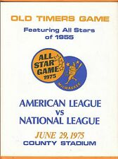 1975 MILWAUKEE BREWERS ALL STAR OLD TIMERS GAME PROGRAM UNSOLD UNUSED