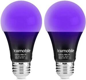 2pack Led Ultraviolet Black Light Uv Bulb Glow in the Dark Ultra Violet Neon NEW