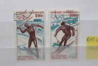 "FRANCOBOLLI REP. CENTRAFRICANA 1968 ""OLYMPICS / OLIMPIADI"" USED SET (CAT.Z)"