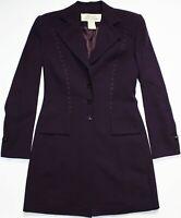 Tomasz Starzewski Wool Button Jacket - UK Size 10 - Purple Voilet - Womens Coat