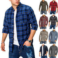 Jack & Jones Herren Langarmhemd Kariertes Hemd Karohemd Casual Lumberjack Shirt