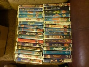 Lot 32 Vintage Childrens VHS Tapes Cartoons Movies Classics