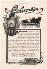 COLUMBIA ELECTRIC CAR AD, gives prices, antique, authentic 1905
